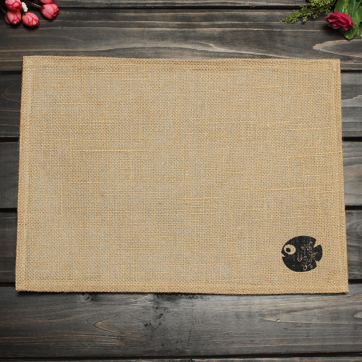 Linen Cloth Table Placemat Heat Insulation Pad Coaster