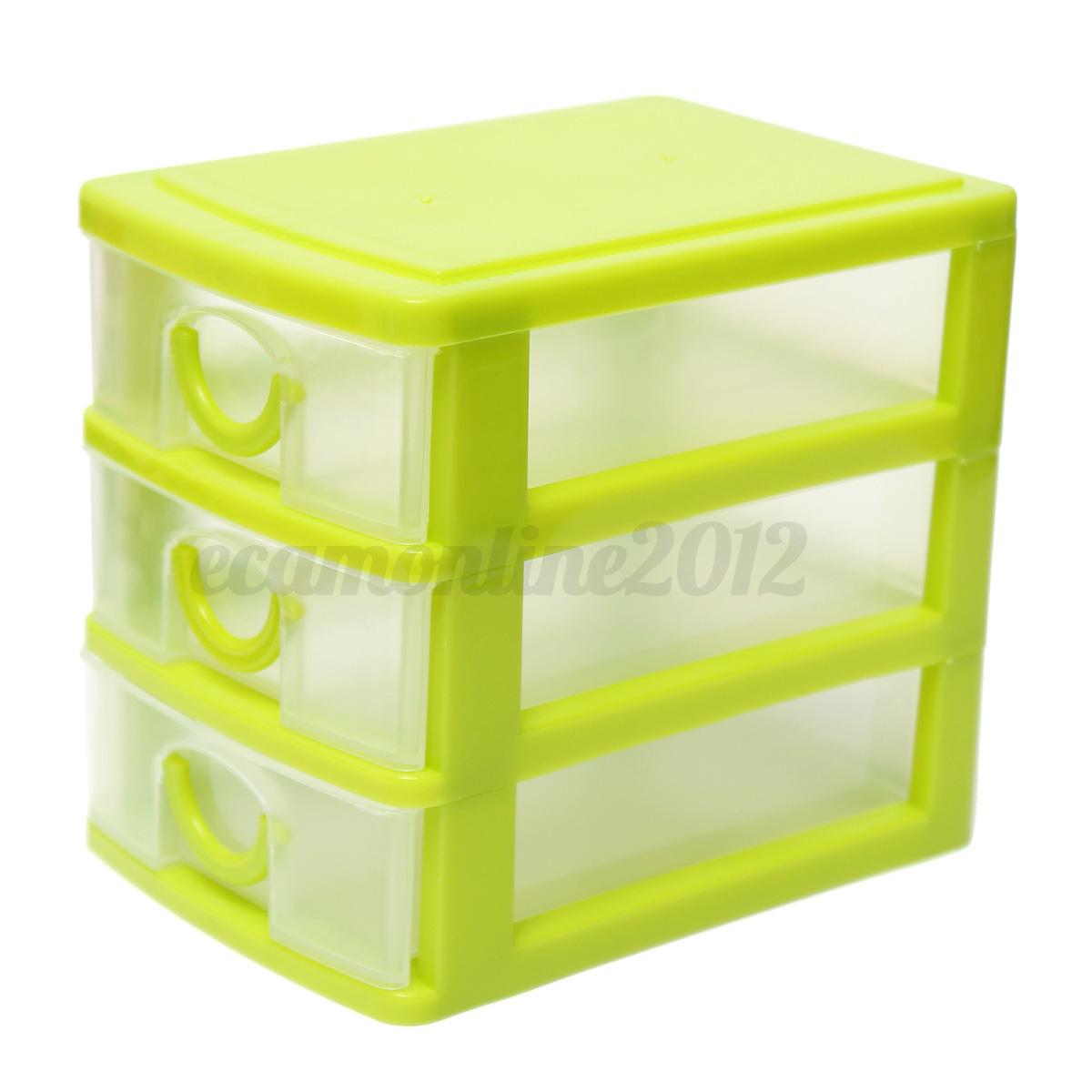 4 colores pl stico caja almacenaje storage box organizador - Caja almacenaje plastico ...