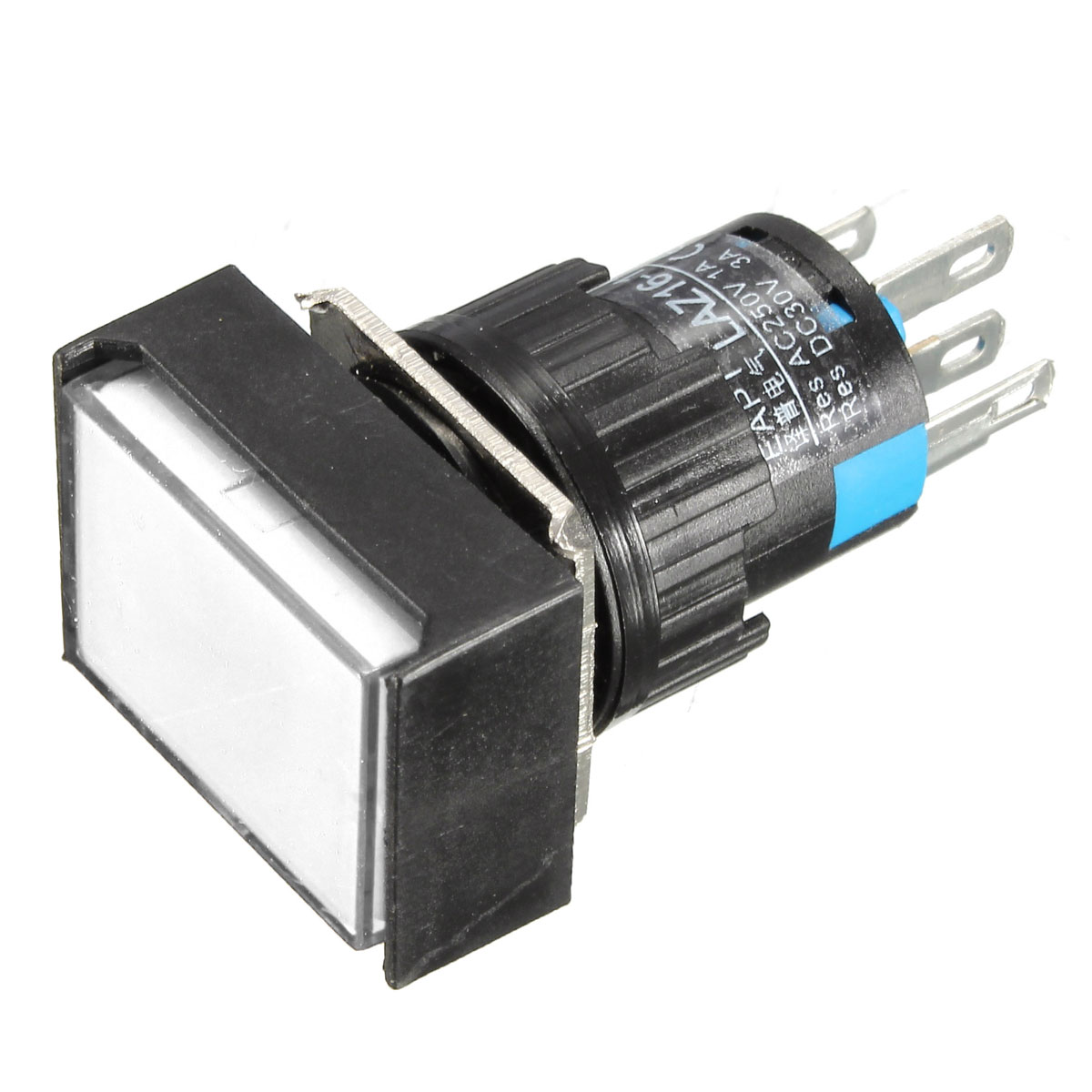 New-LED-Light-Push-Button-Switch-Rectangular-DC-12V-24V-Momentary-Latching-24mm