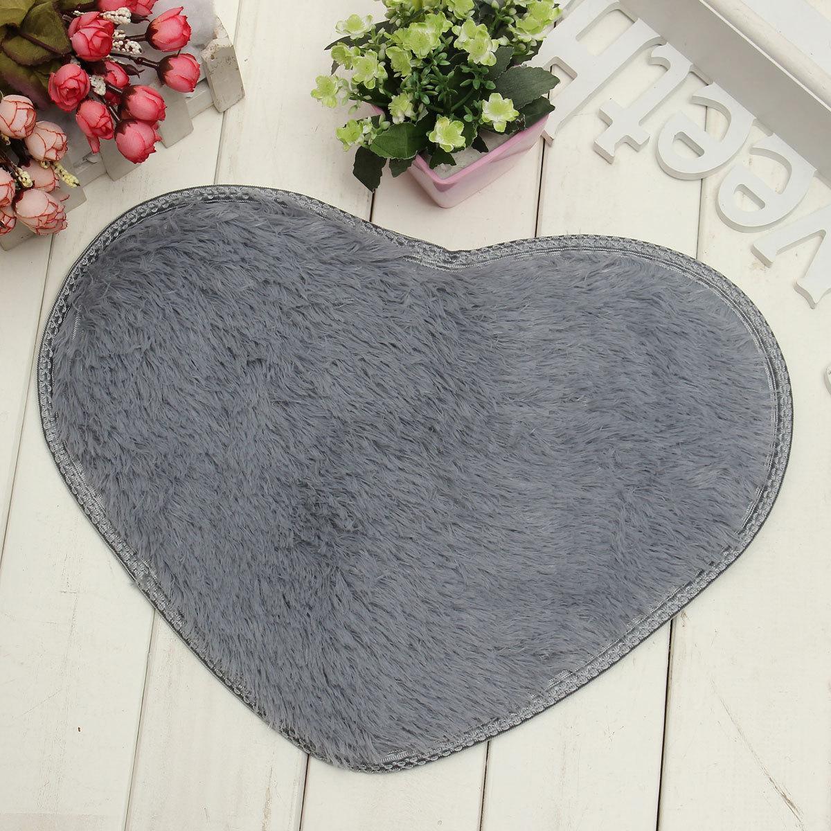 tapis de bain coeur paillasson entr e sol carpette antid rapant douche 40 30cm. Black Bedroom Furniture Sets. Home Design Ideas