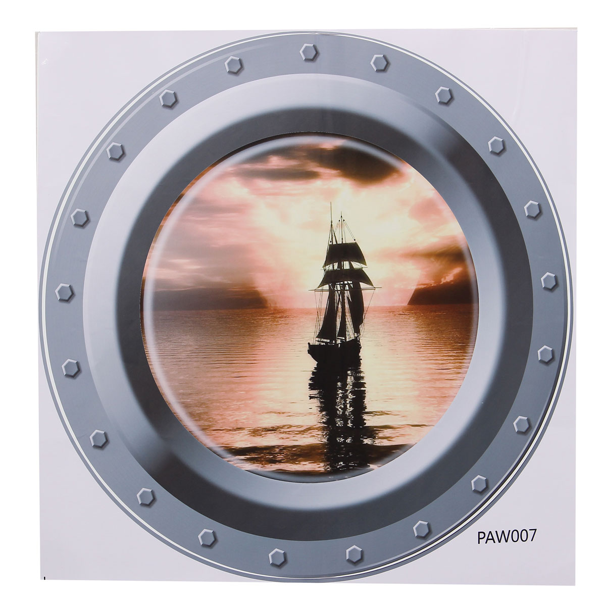 Fish Ship 3d Ocean View Porthole Wall Stickers Decal Sea