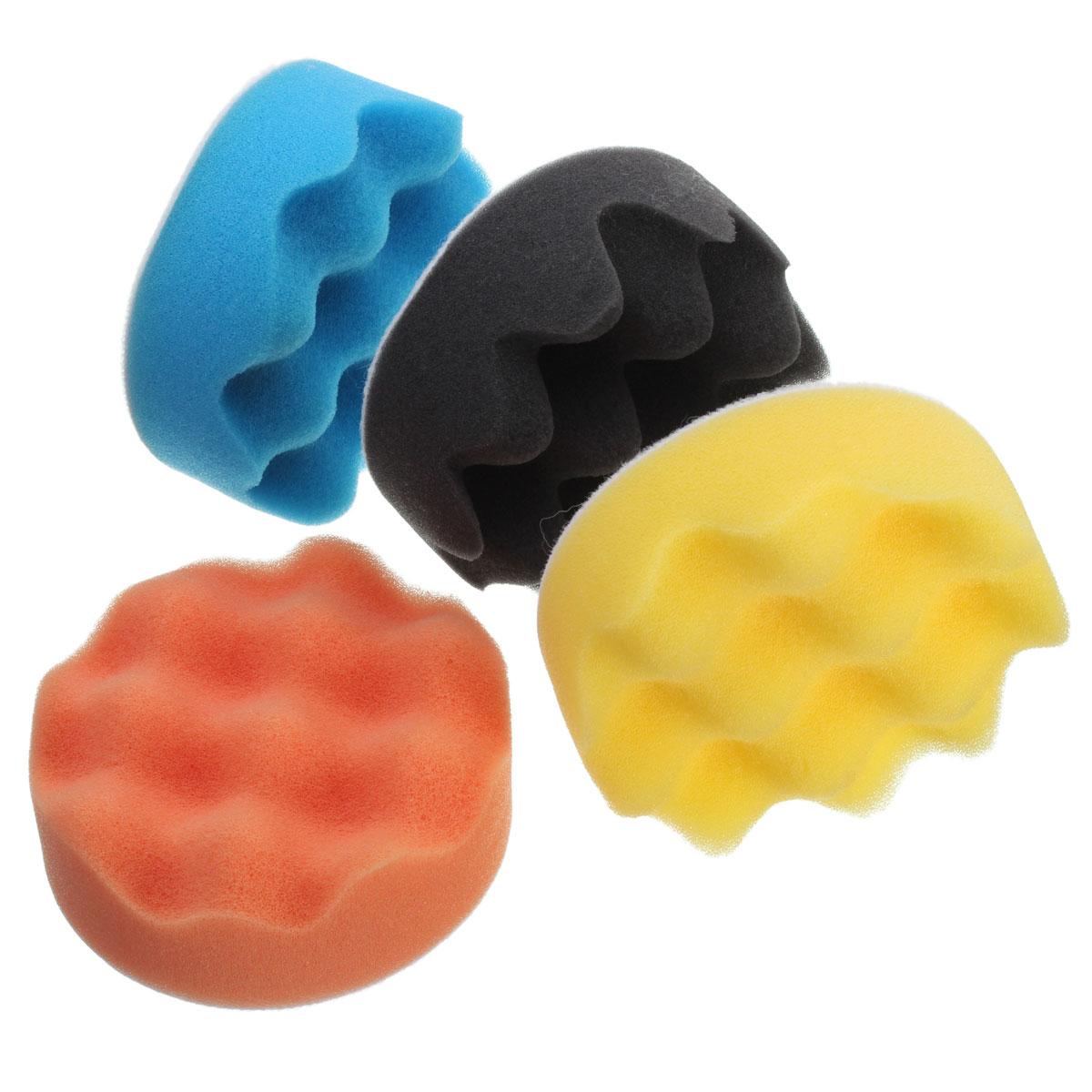 4Pcs 3/4/5/6/7 Inch Buffing Polishing Sponge Pads Kit For