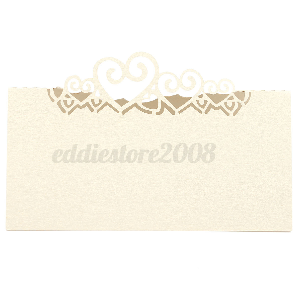 10pcs multi color heart cut wedding party table name place for Deco table multicolore