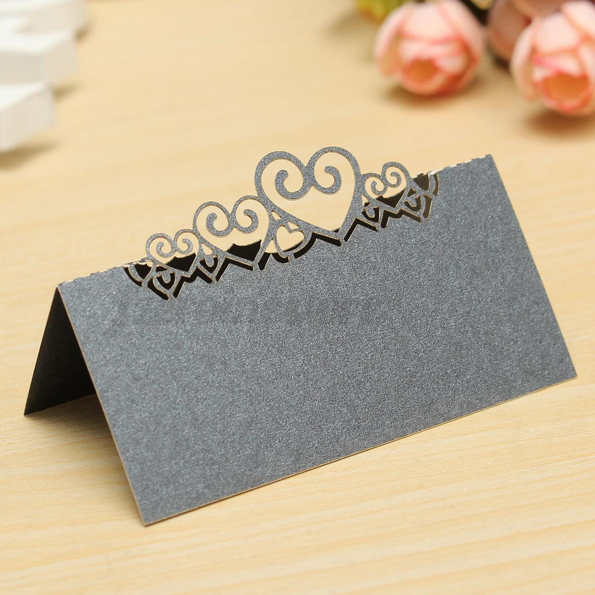 10tlg liebe herz platzkarten tischkarten namenskarten hochzeit taufe party deko ebay. Black Bedroom Furniture Sets. Home Design Ideas
