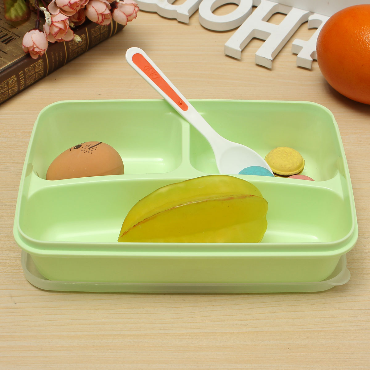 1000ml lunch bento box plastic cartoon lunch box food container bento box ebay. Black Bedroom Furniture Sets. Home Design Ideas