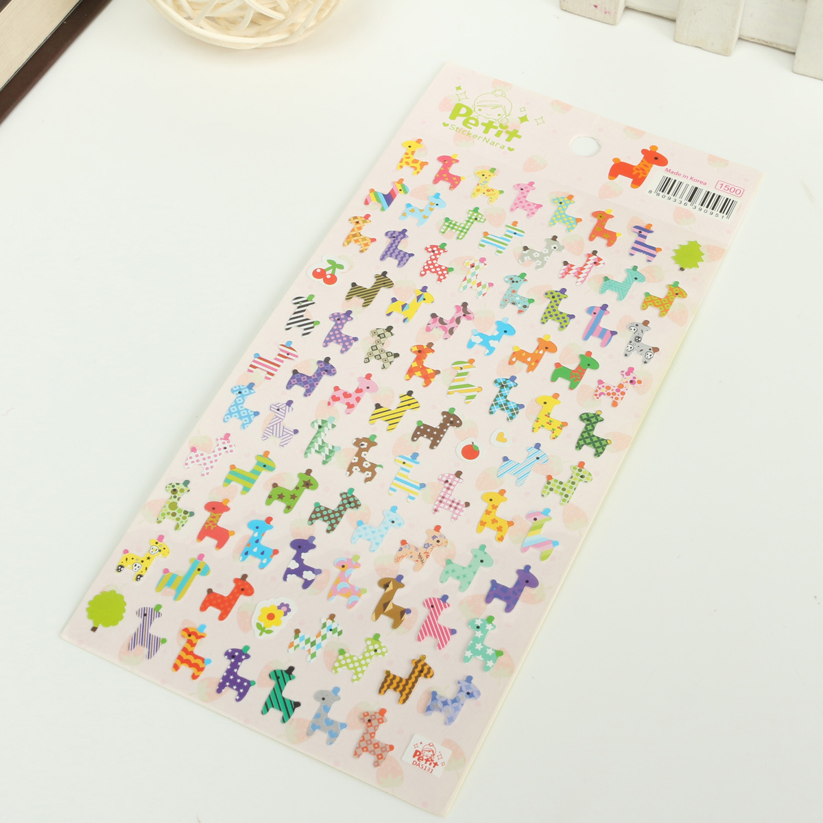 Diy Notebook Calendar : Sheets cute animal diary calendar label book sticker
