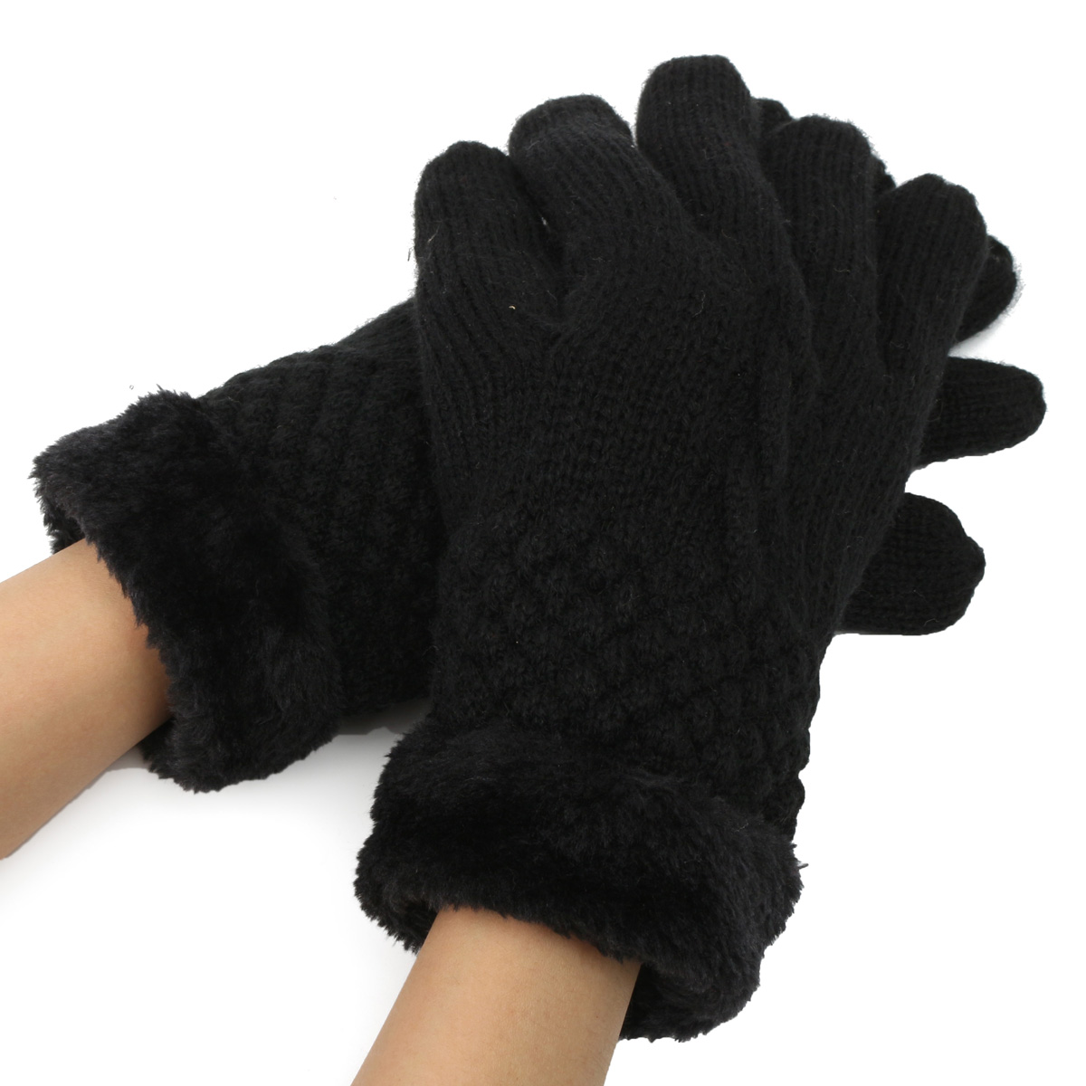 New Fashion Women's Winter Warm Knit Gloves Warmer Mittens Finger Gloves New