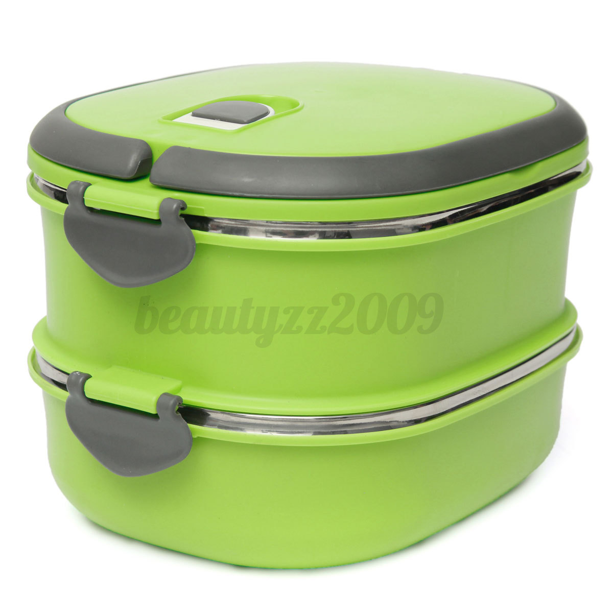 1 2 3 layer portable stainless steel lunch box bento food storage container ebay. Black Bedroom Furniture Sets. Home Design Ideas