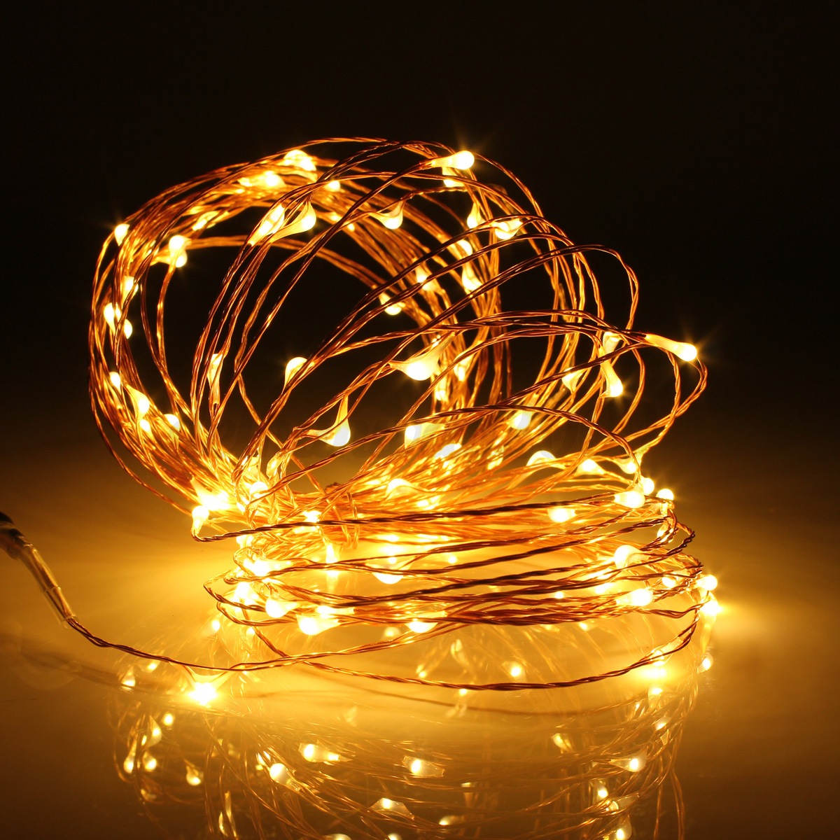 10m 100 Led Solar Powered Starry String Fairy Light Copper