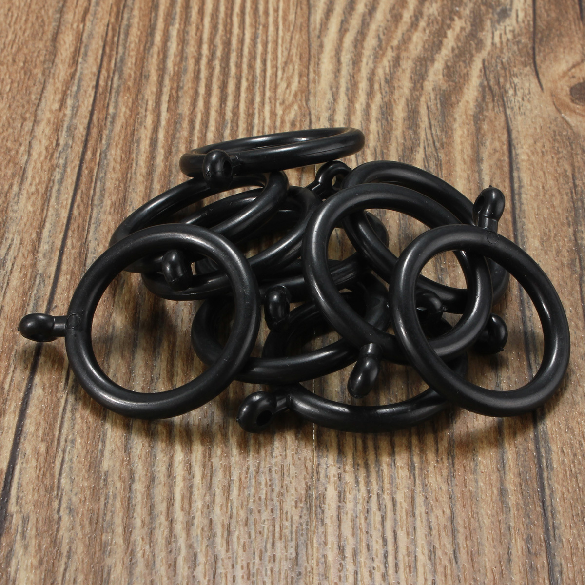 10 20 30pcs 30mm Shower Curtain Pole Rod Rings With Drapery Clips Hanging Ebay