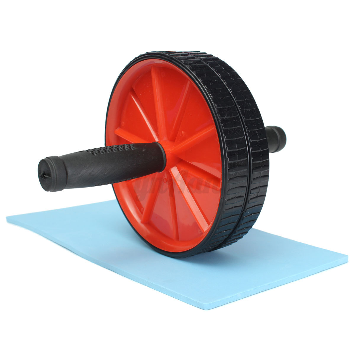 Dual Abs Abdominal Roller Wheel W Knee Pad F Home