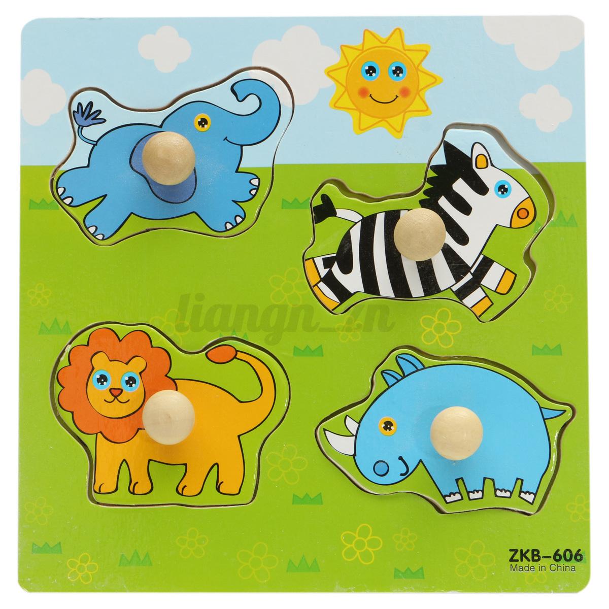 puzzle en bois jouet animal cartoon cadeau enfant b b jeu educatif casse t te ebay. Black Bedroom Furniture Sets. Home Design Ideas