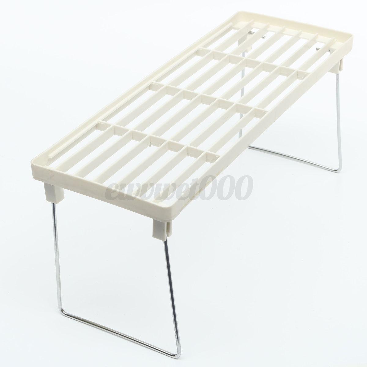Plastic Kitchen Shelf: Plastic Foldable Kitchen Holders Shelf Home Bathroom