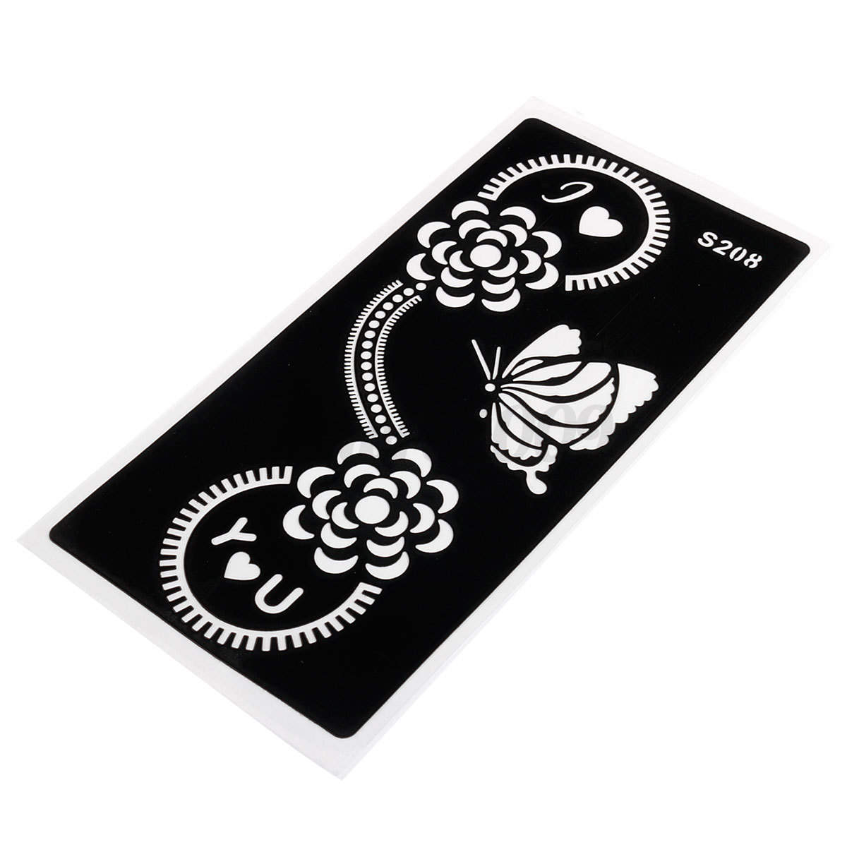 For india henna body art decal temporary tattoo template for Henna temporary tattoo stencils