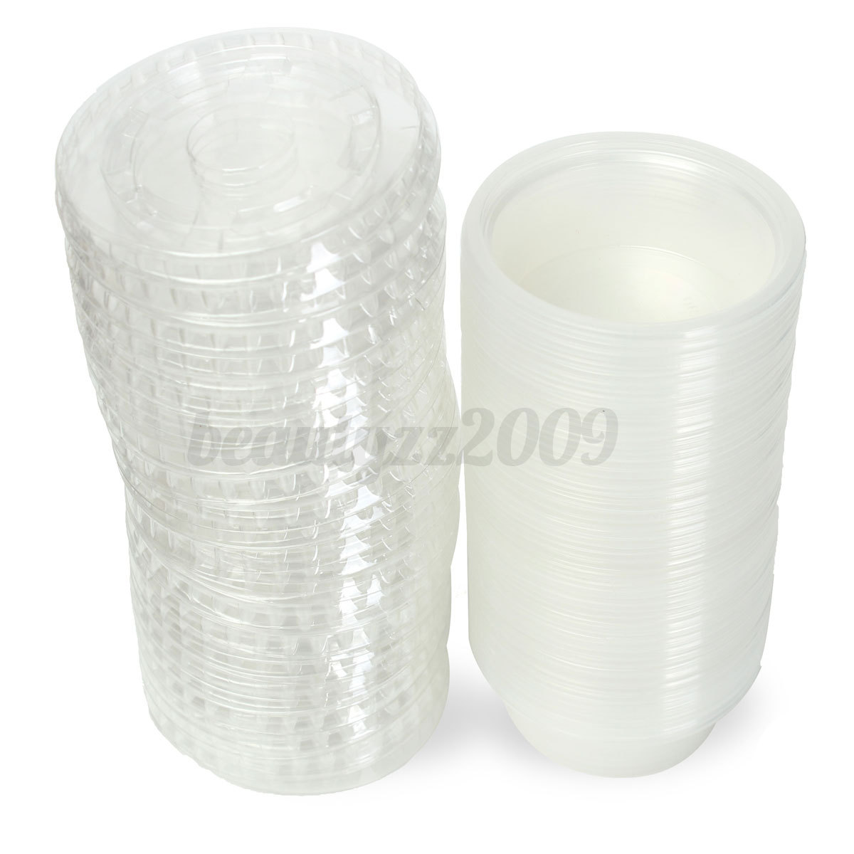 Plastic Cups With Lids : Pcs disposable clear plastic chutney cups food container