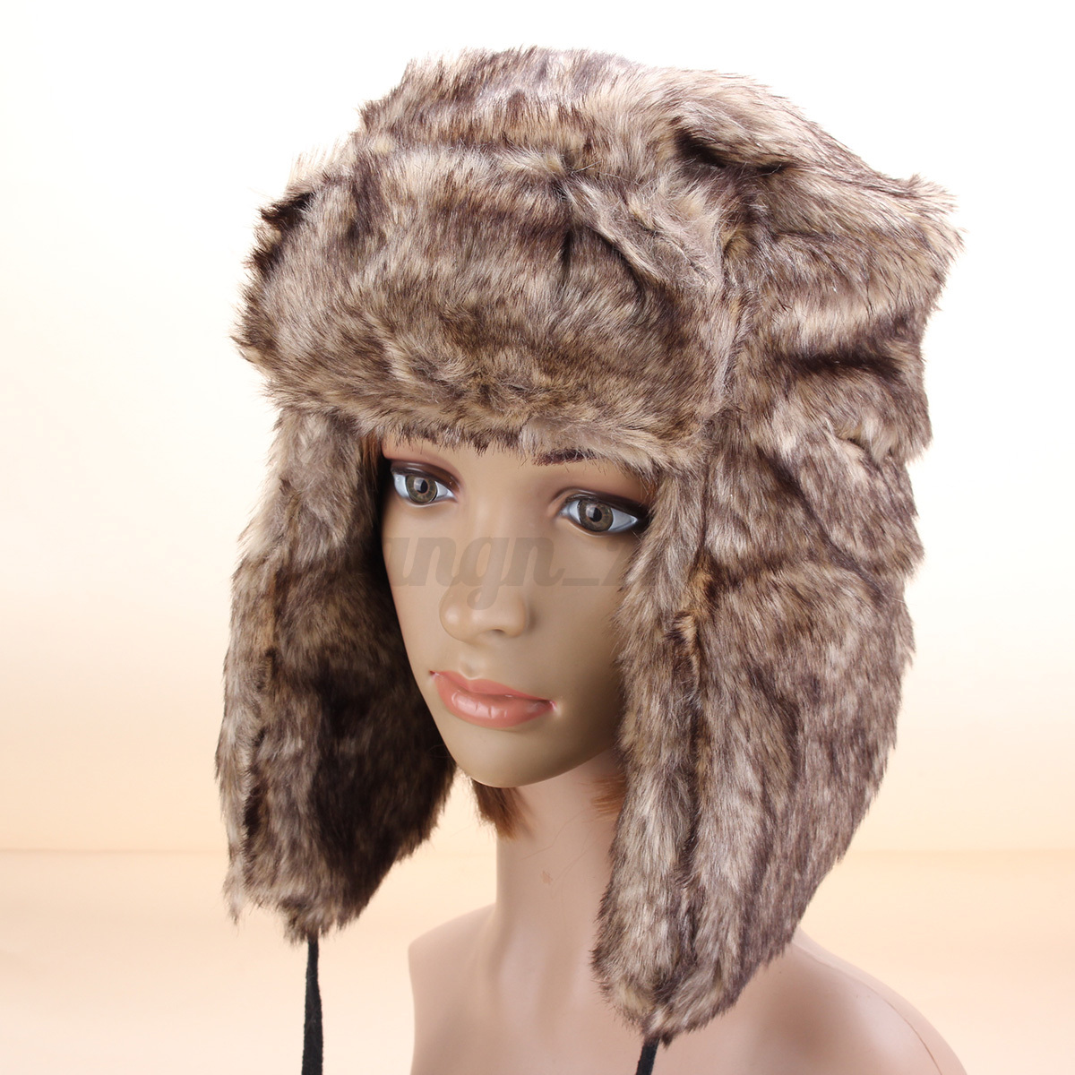 chapeau bonnet russe chapka femme faux fourrure de renard ski hiver hat cap ebay. Black Bedroom Furniture Sets. Home Design Ideas
