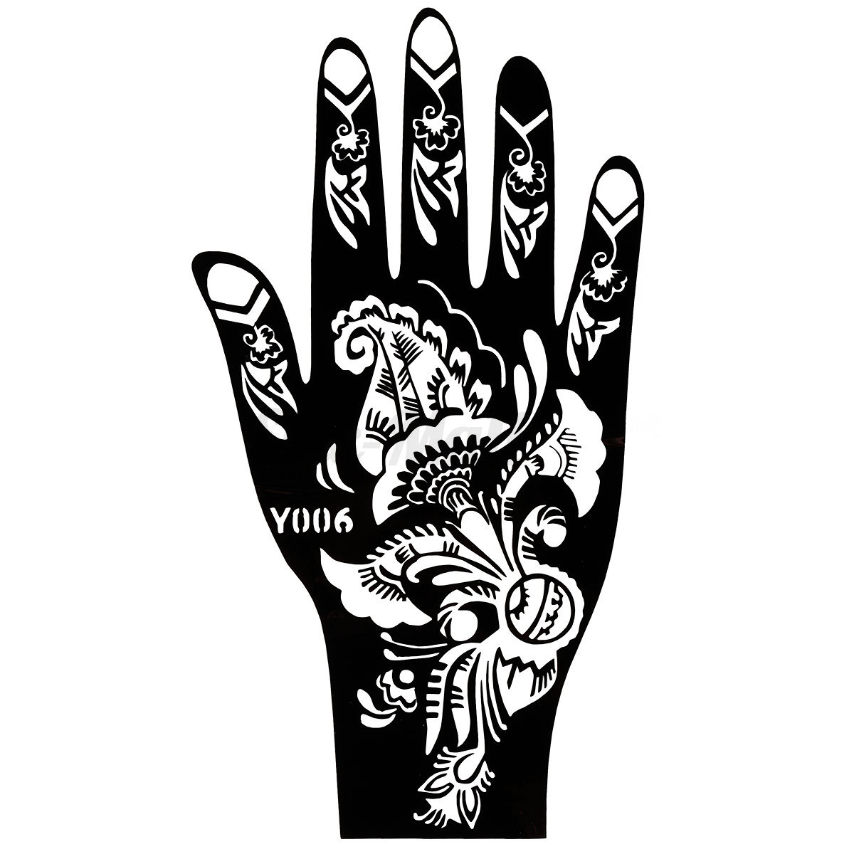 Hand india henna temporary tattoo stencil stickers body for Henna temporary tattoo stencils