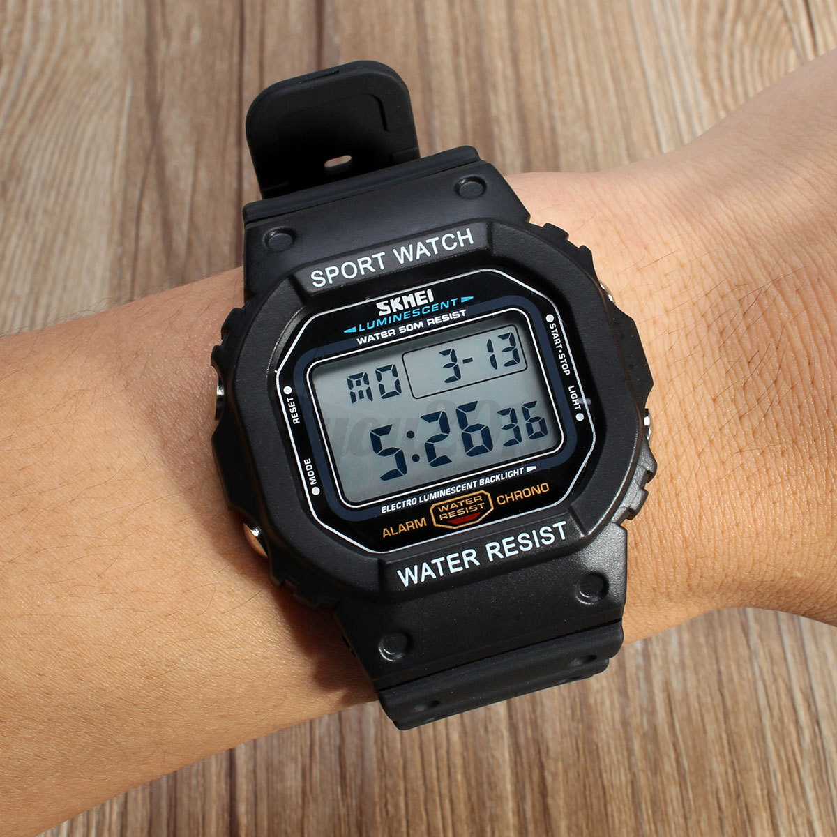skmei mode led digital homme montre quartz sport alarm chrono etanche watch 1134 ebay. Black Bedroom Furniture Sets. Home Design Ideas