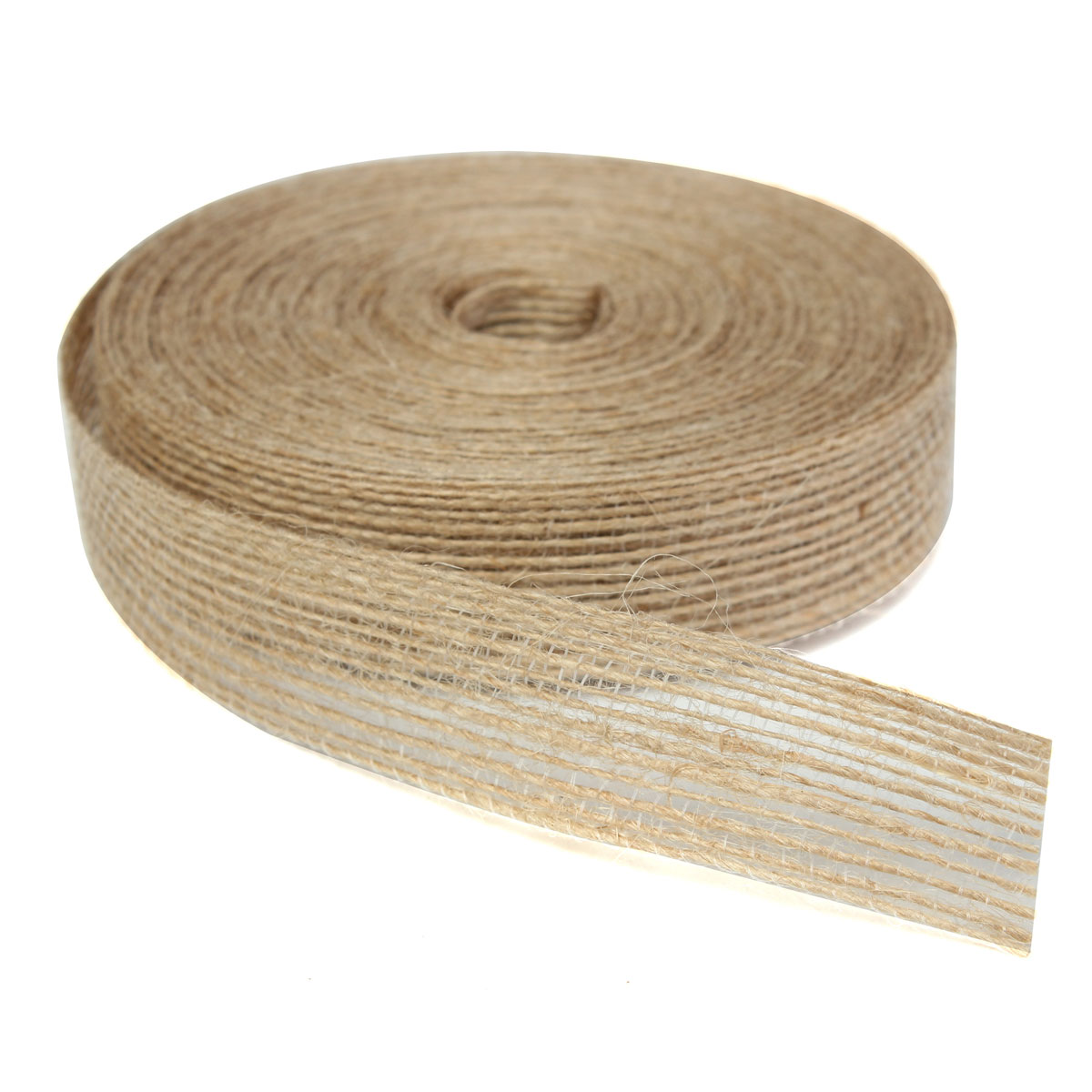 10m natural jute tape hessian burlap ribbon rustic wedding