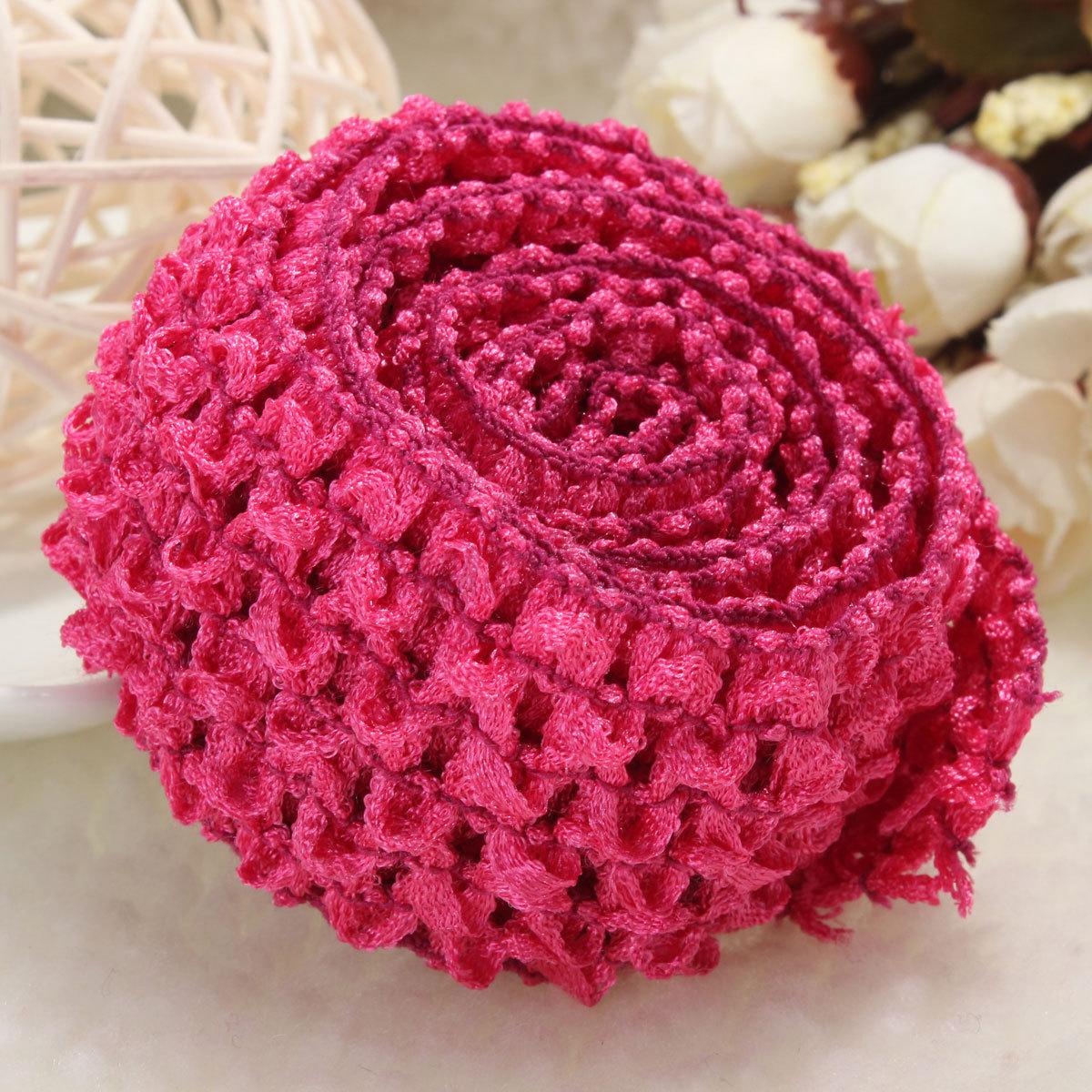Crochet Elastic Hair Band : about 1.5 Crochet Elastic Stretchy Waistband Headband Hair Band ...