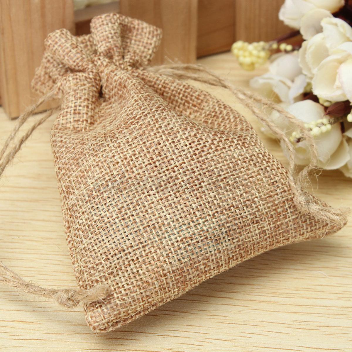 Wedding Favor Jute Bags : ... -Natural-Jute-Hessian-Drawstring-Pouch-Burlap-Wedding-Favor-Gift-Bags