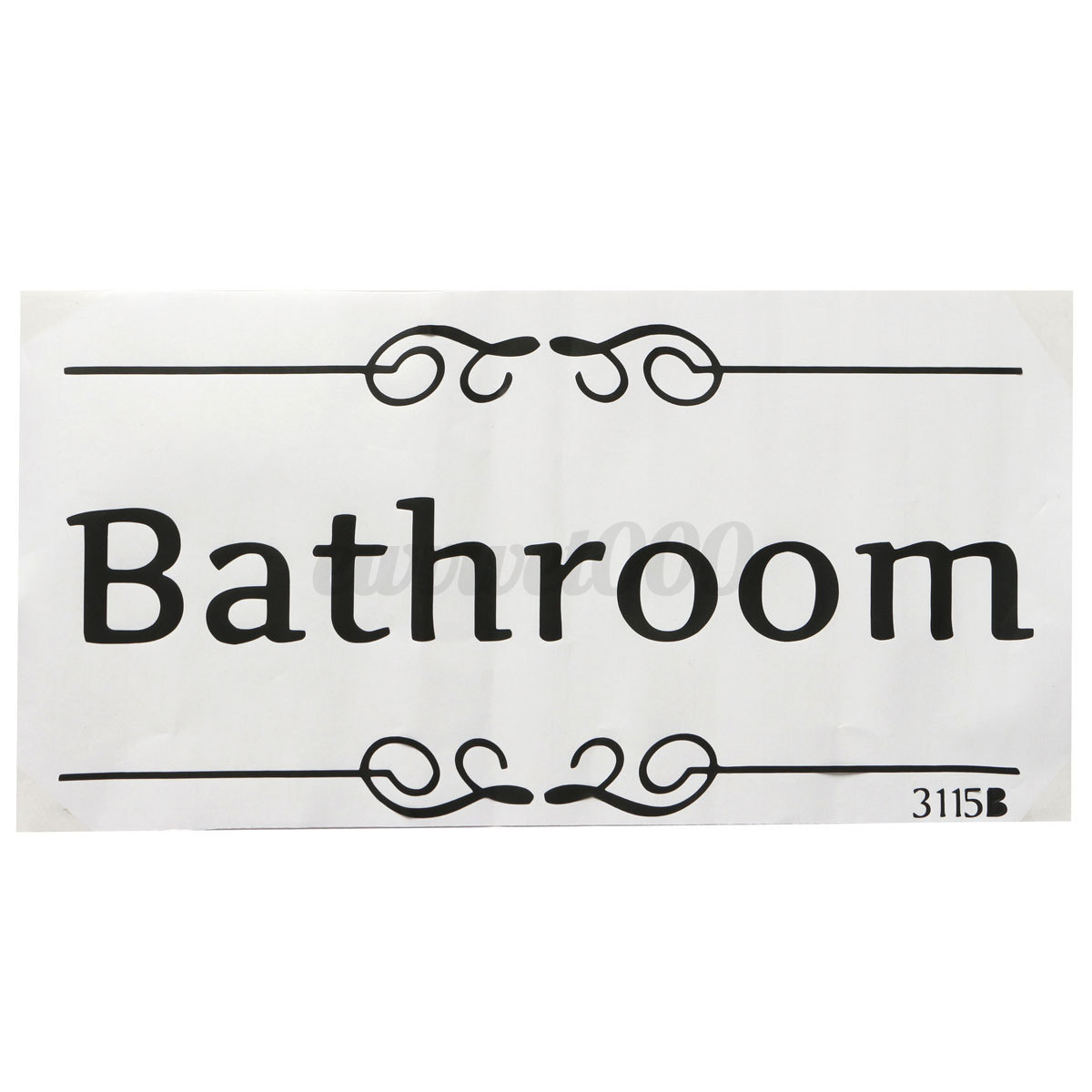 Removable quote vinyl wall sticker decals art bathroom for Bathroom decor stickers