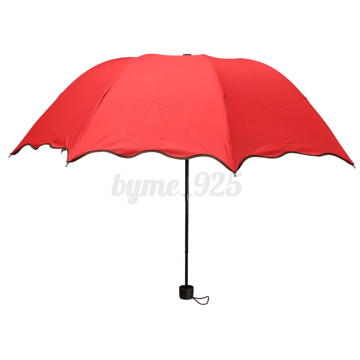 anti uv foldable sun rain color changing umbrella women flouncing dome parasol ebay. Black Bedroom Furniture Sets. Home Design Ideas