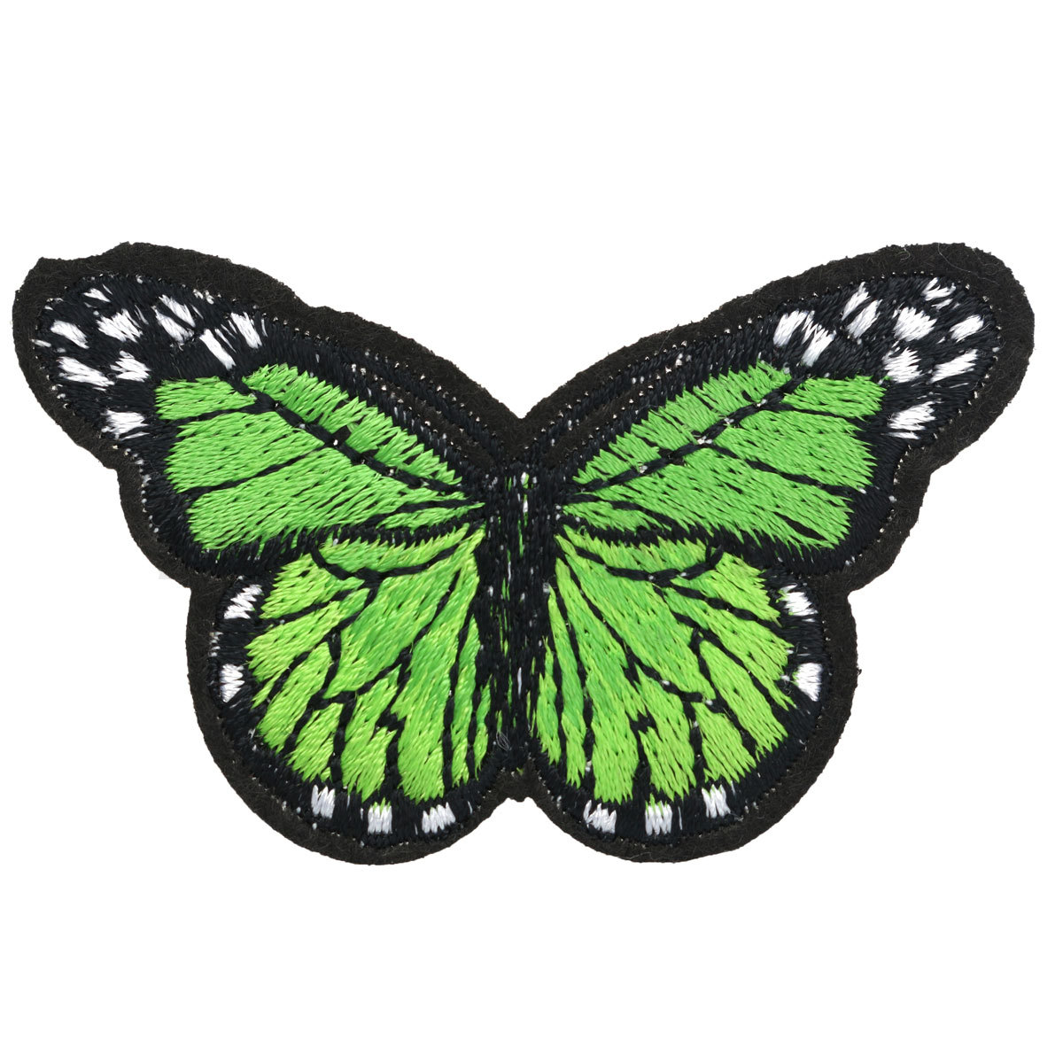 Skull butterfly sew iron on patch clothing embroidery
