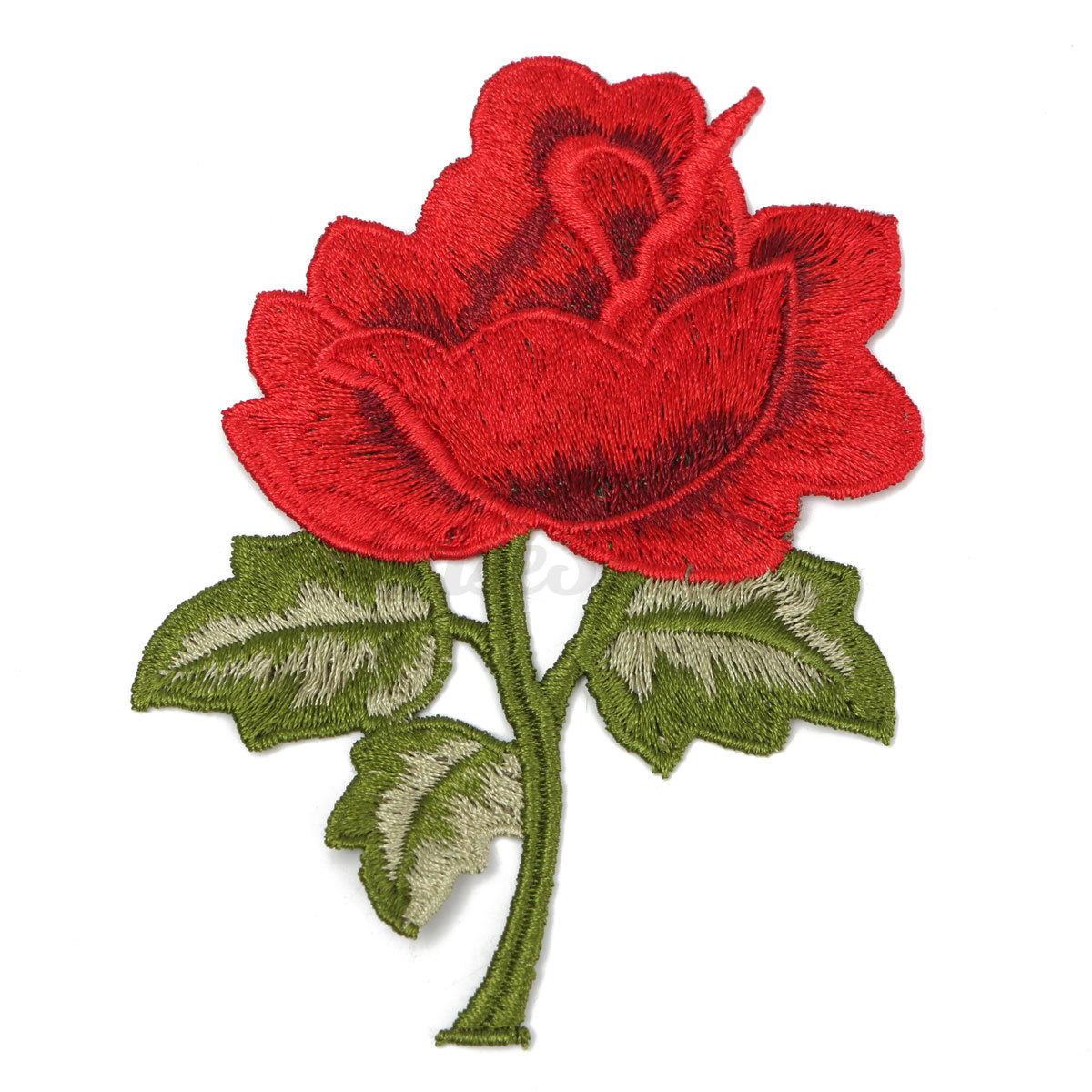 Rose flower embroidered sew iron on patch sewing clothes