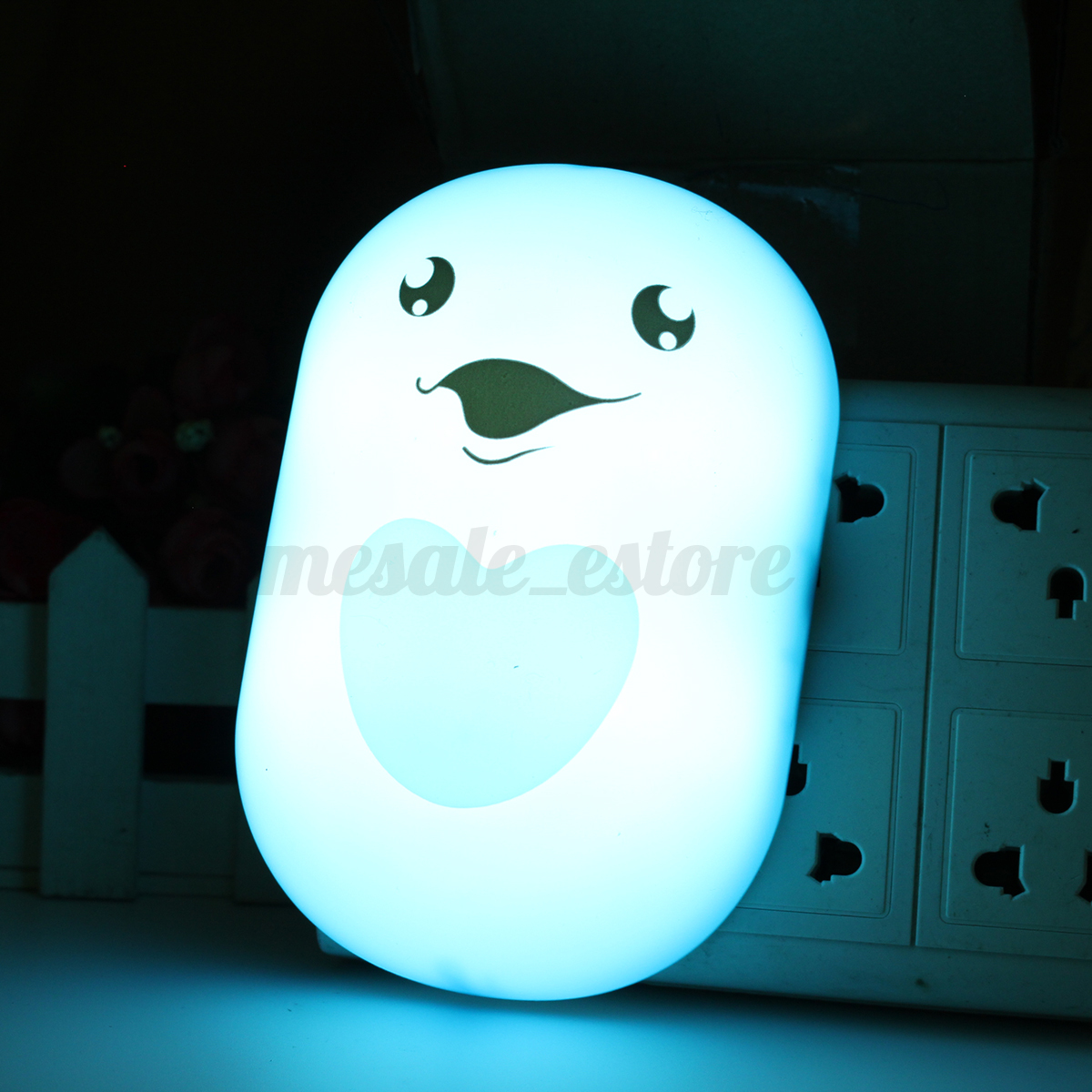 3D LED Cute DIY Night Light Wall Sticker Mural Kid Bedroom Decoration Wall Lamp eBay