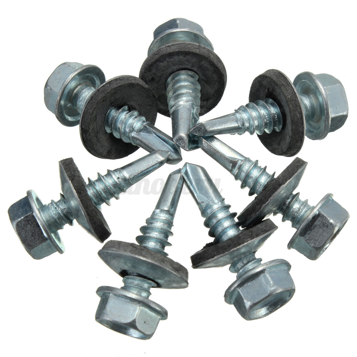 20pcs Metal Self Tapping Screws Stitching Bolt With Rubber