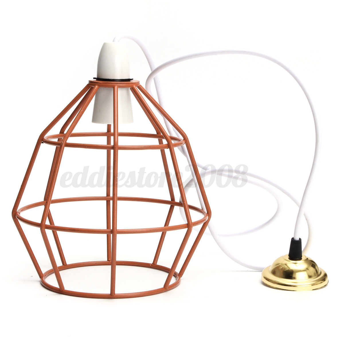 industrial vintage style metal cage wire frame ceiling. Black Bedroom Furniture Sets. Home Design Ideas