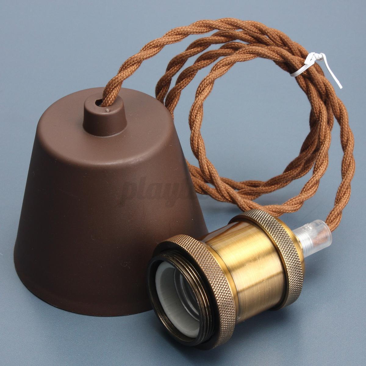 E27/E26 Edison Vintage Light Bulb Pendant Kit Lamp Holder