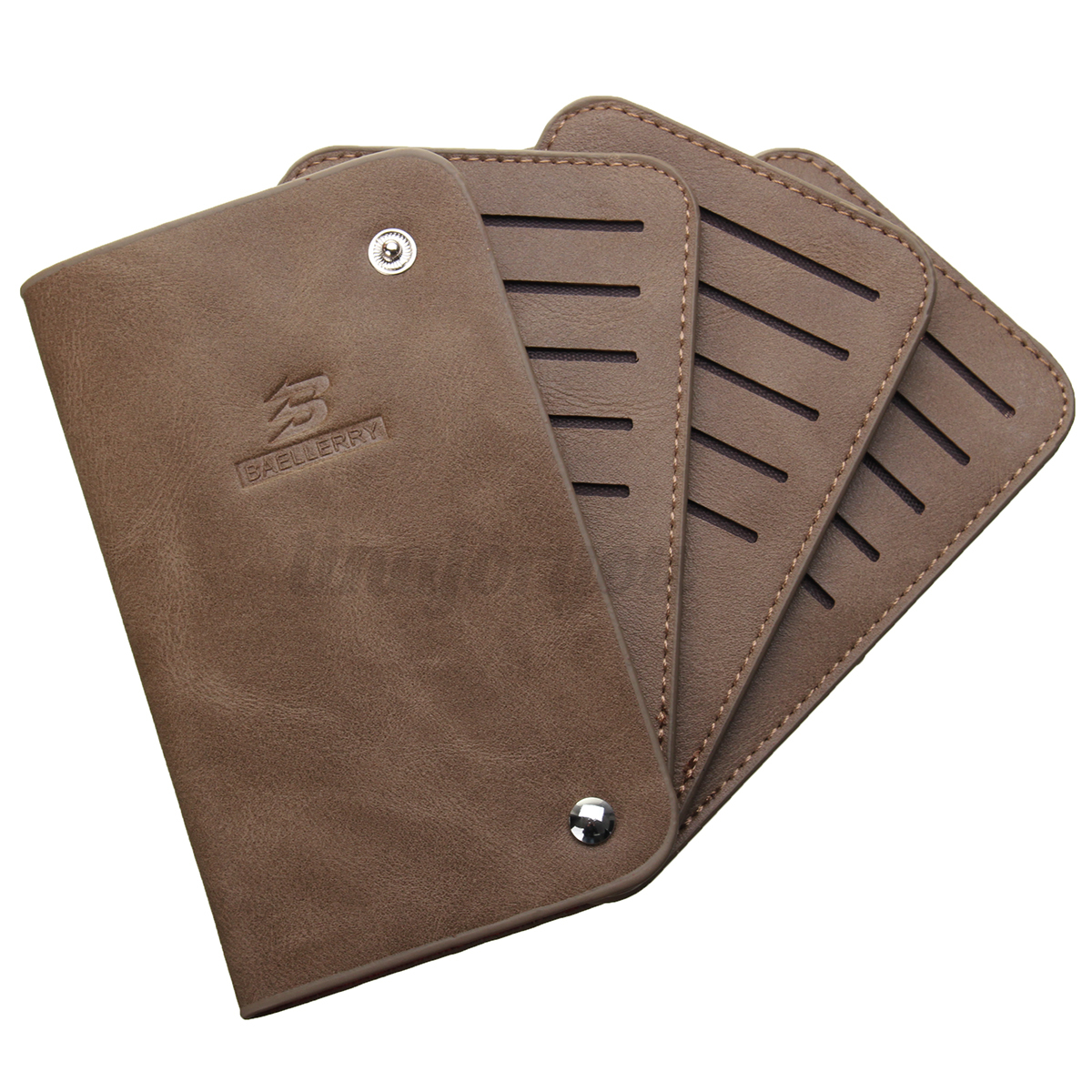Unisex Card Holder Case Buckle Leather PU Lady Credit Card Purse Wallet Pocket