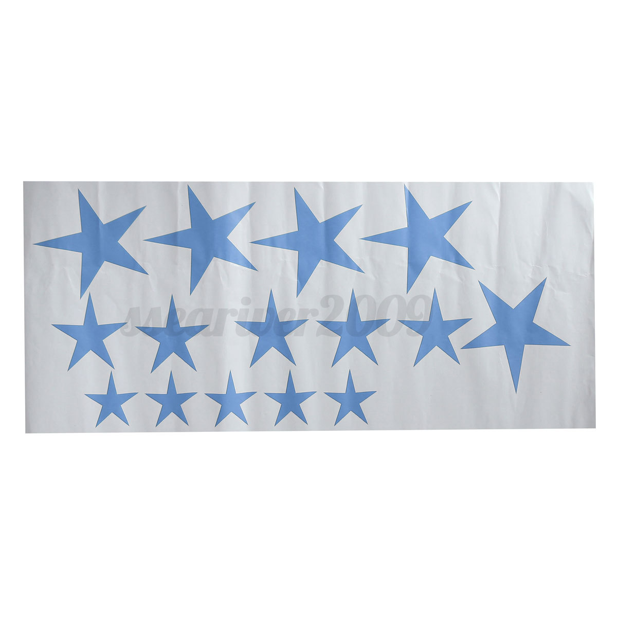 Removable 15Pcs Stars Wall Stickers Art Vinyl Decals For