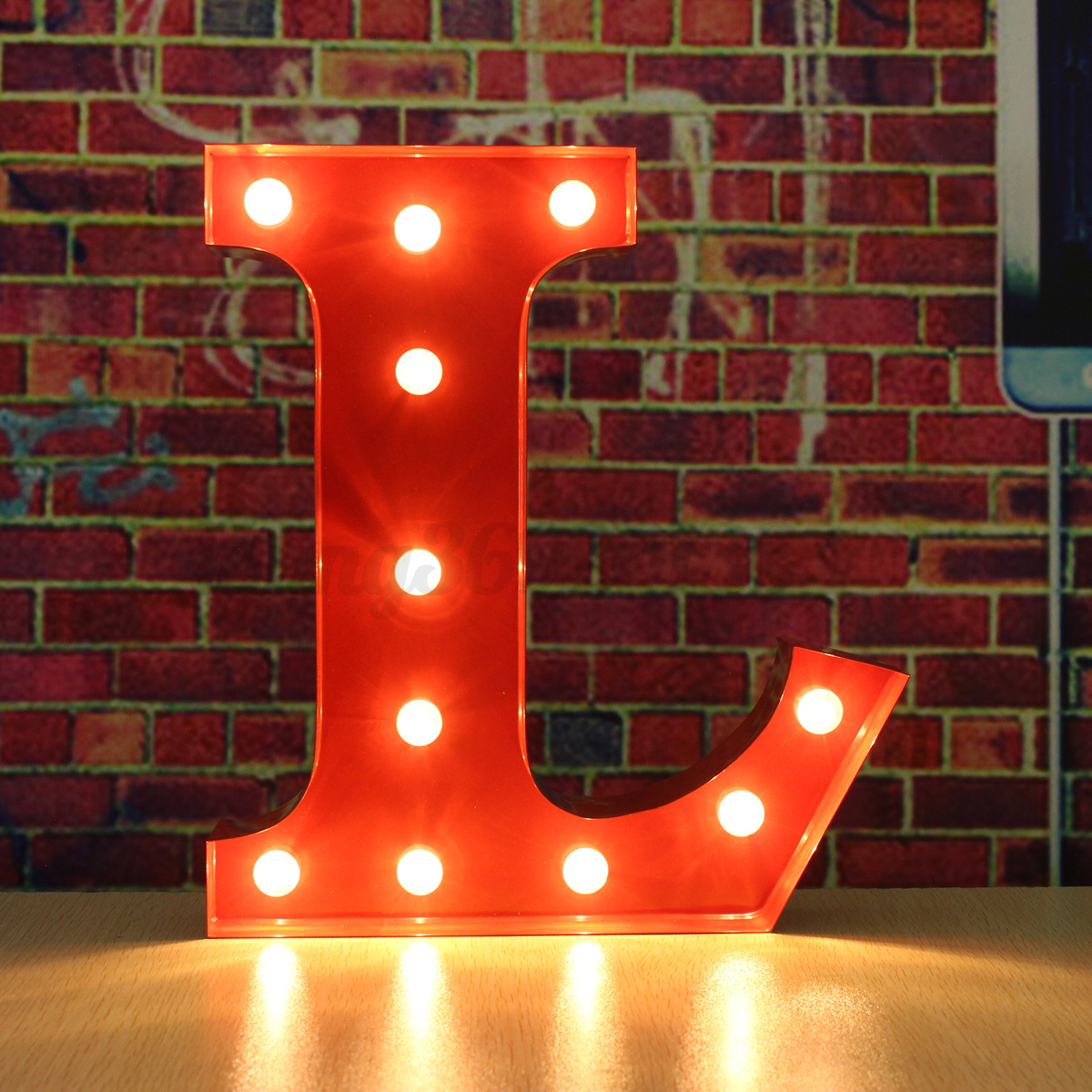 metal led 12 marquee letter lights vintage circus style alphabet light up red ebay. Black Bedroom Furniture Sets. Home Design Ideas