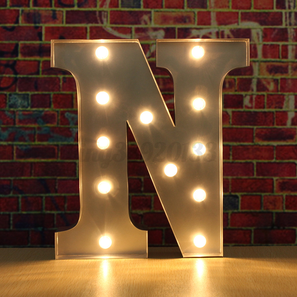 Silver led 12quot marquee letter lights vintage circus style for Light letters for sale