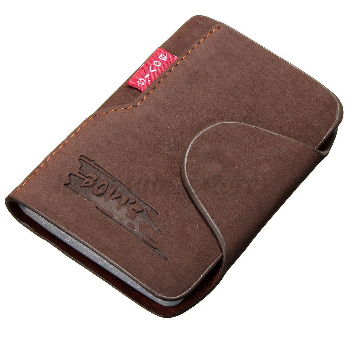 Men Leather Business Credit Card Case ID Pocket Mini