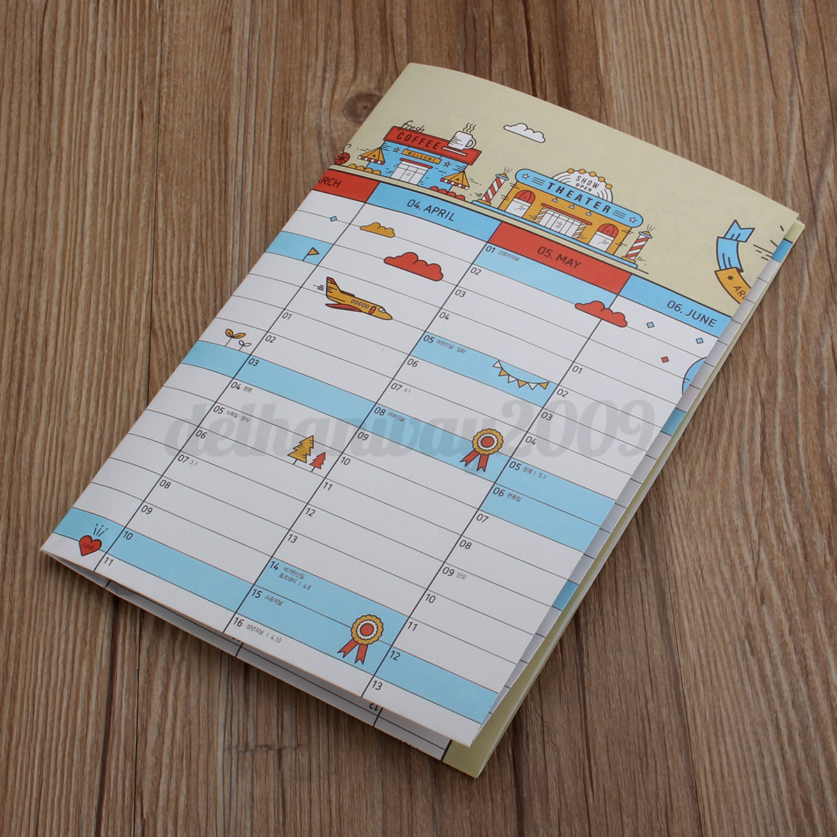 Hanging Planner Calendar : Year calendar home office month holiday planner paper