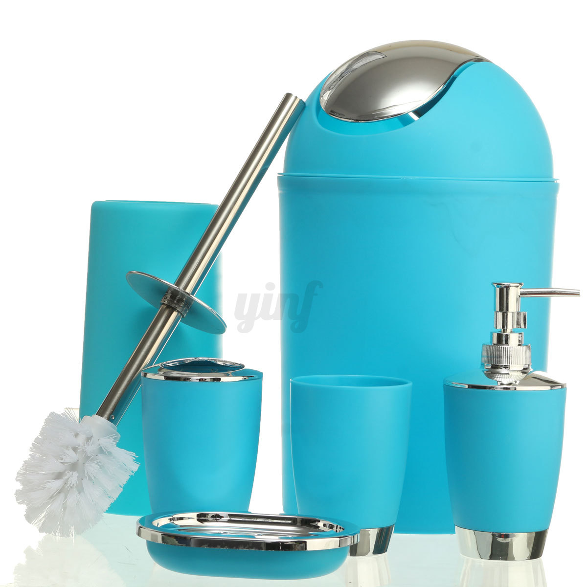 6pcs salle de bains set accessoire porte savon for Porte gobelet salle de bain
