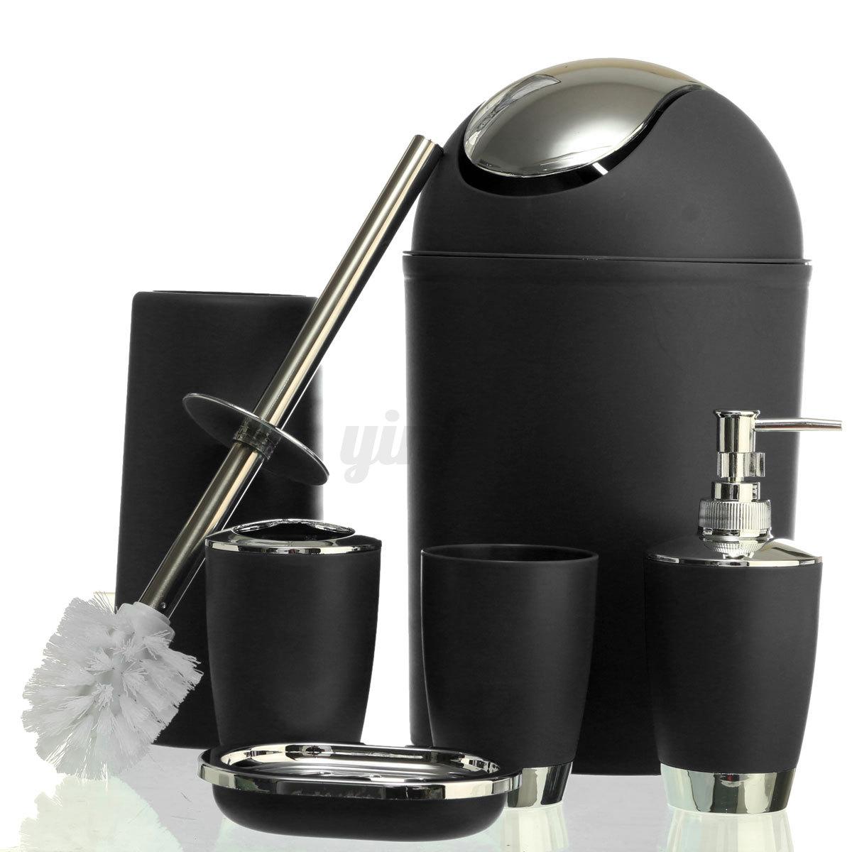 6pcs salle de bains set accessoire porte savon for Set porte savon
