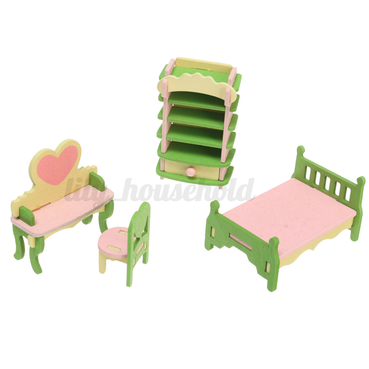 puppenhaus zubeh r puppenstube holz einrichtung. Black Bedroom Furniture Sets. Home Design Ideas