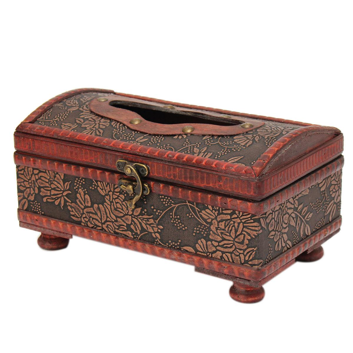 Bo te mouchoirs papier tissu rectangle pu cuir cover holder maison bureau d co - Deco bureau maison ...