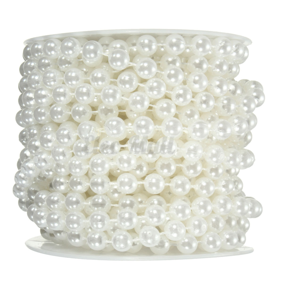 10M 8mm Ivory Pearl Beads Garland Chain String Wedding
