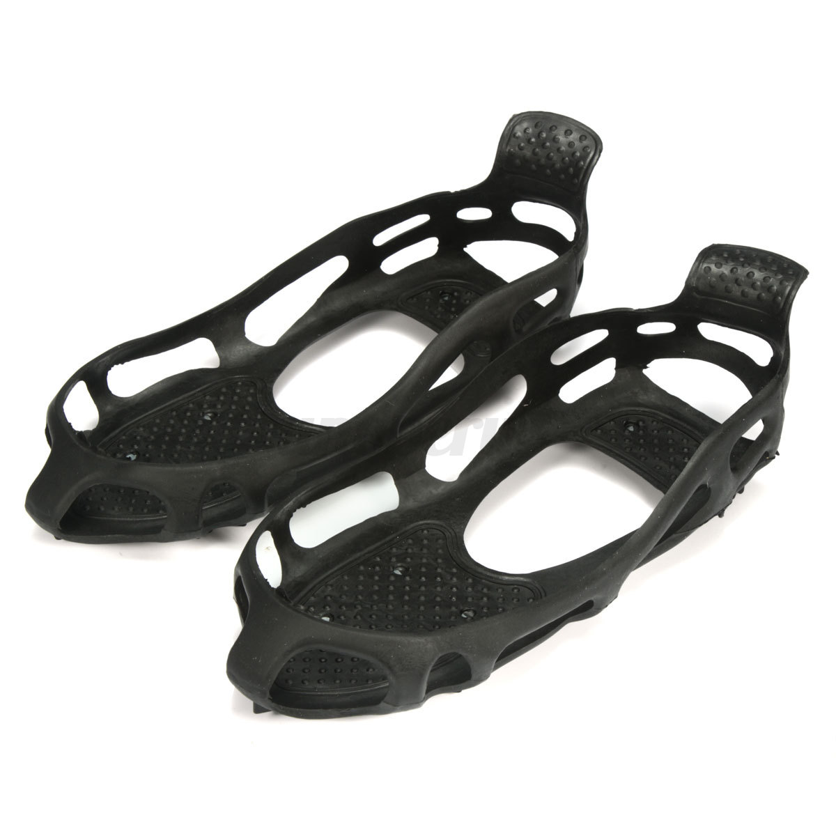 ICE SNOW ANTI SLIP SPIKES GRIPS GRIPPERS CRAMPON CLEATS FOR SHOES BOOT OVERSHOE~