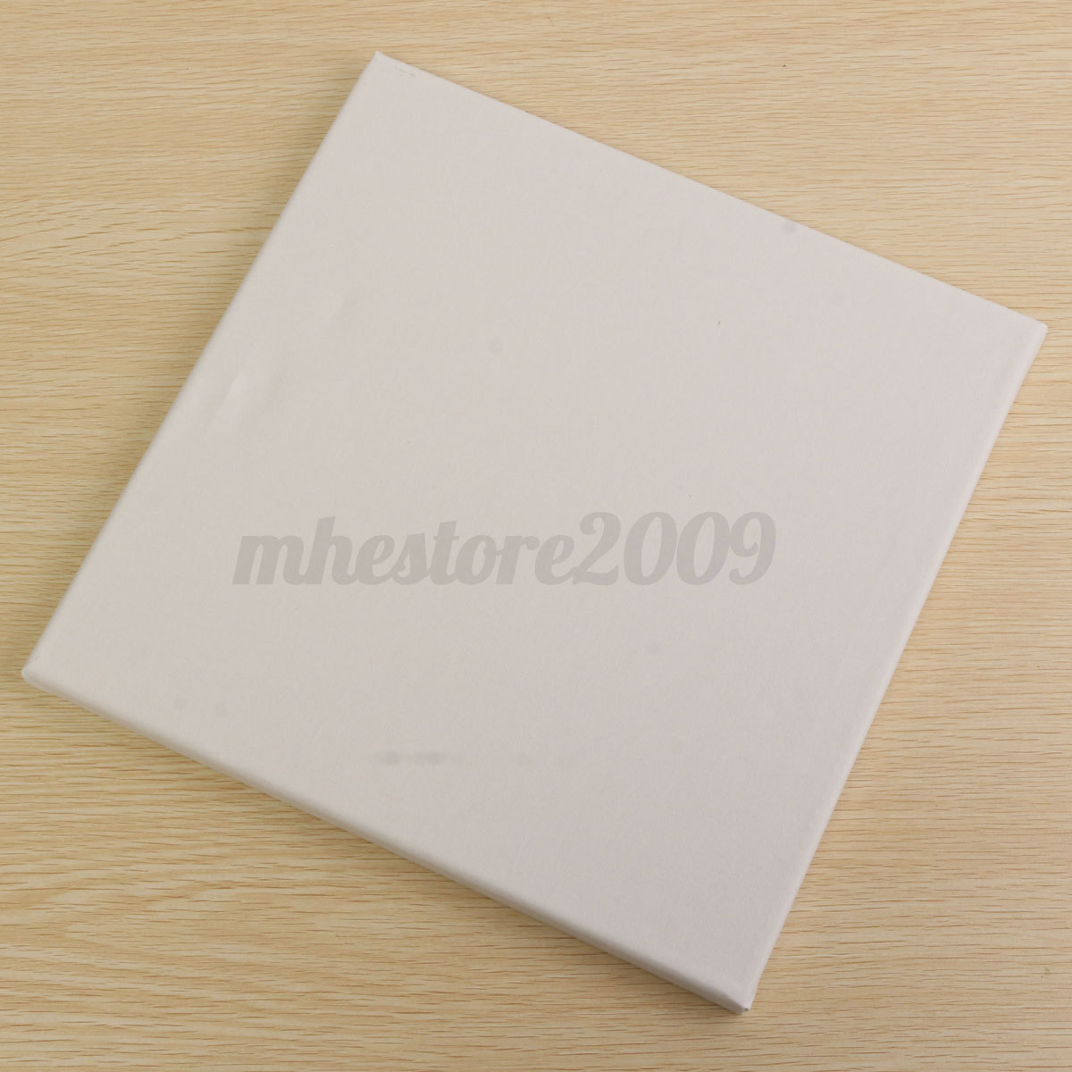 white blank square canvas board wooden frame for art