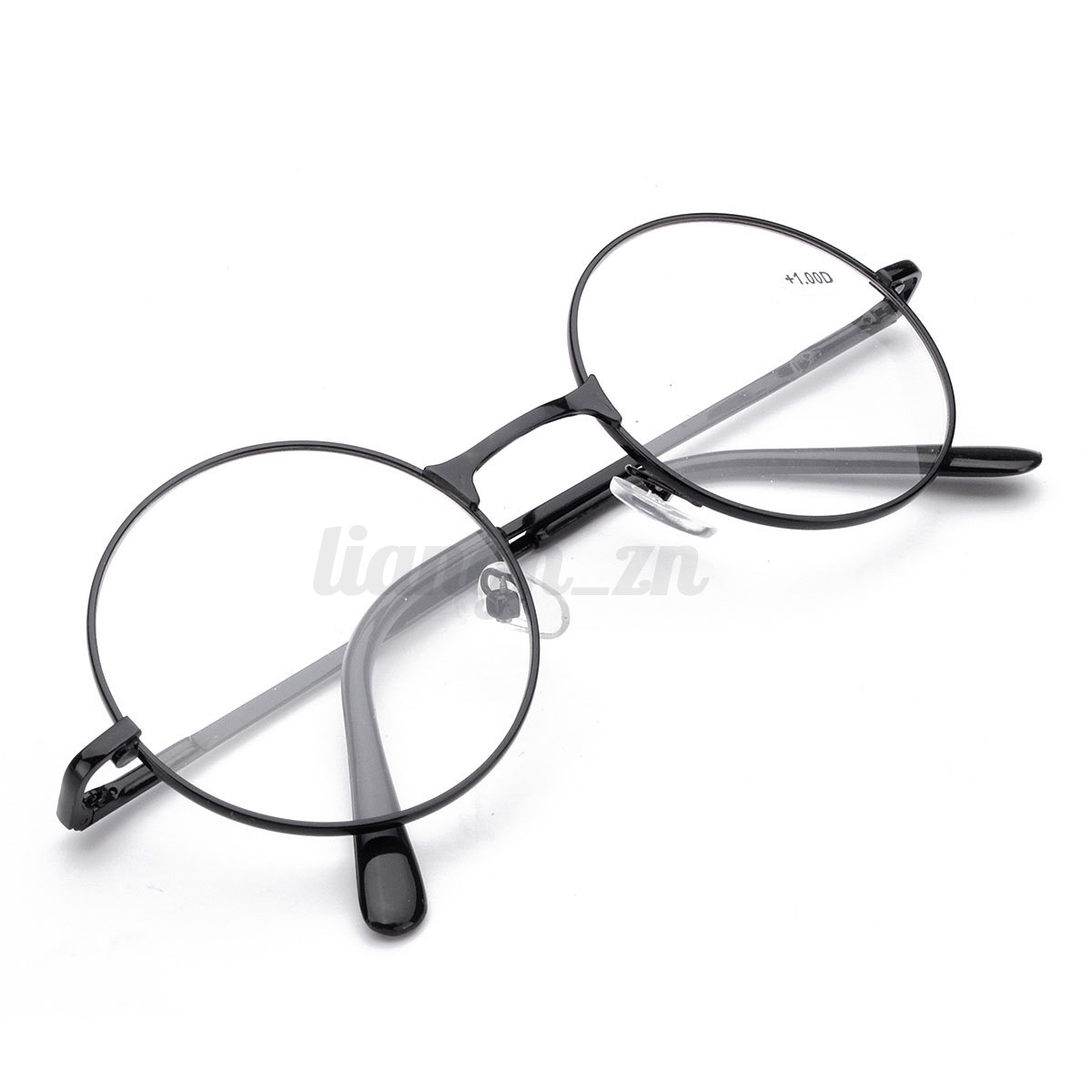 lunettes de lecture rondes presbyte dioptrie loupe vue m tal unisex femme homme ebay. Black Bedroom Furniture Sets. Home Design Ideas