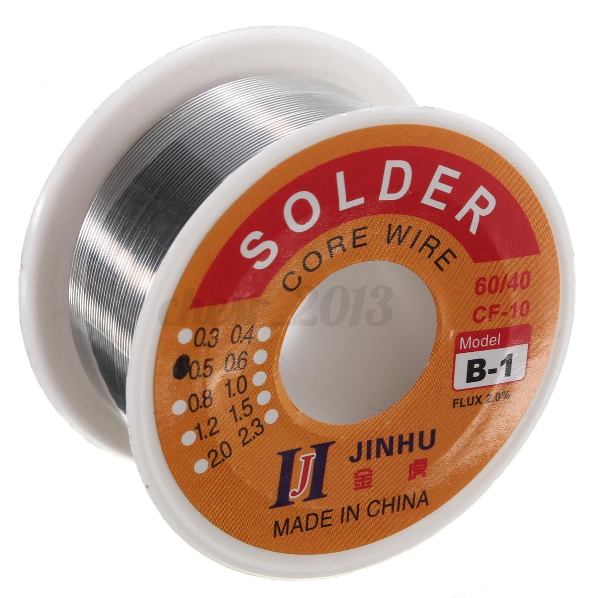 1 Yard of 1.5mm 60//40 Rosin Core Solder 2.0 Flux Wire Reel Soldering Tin Lead