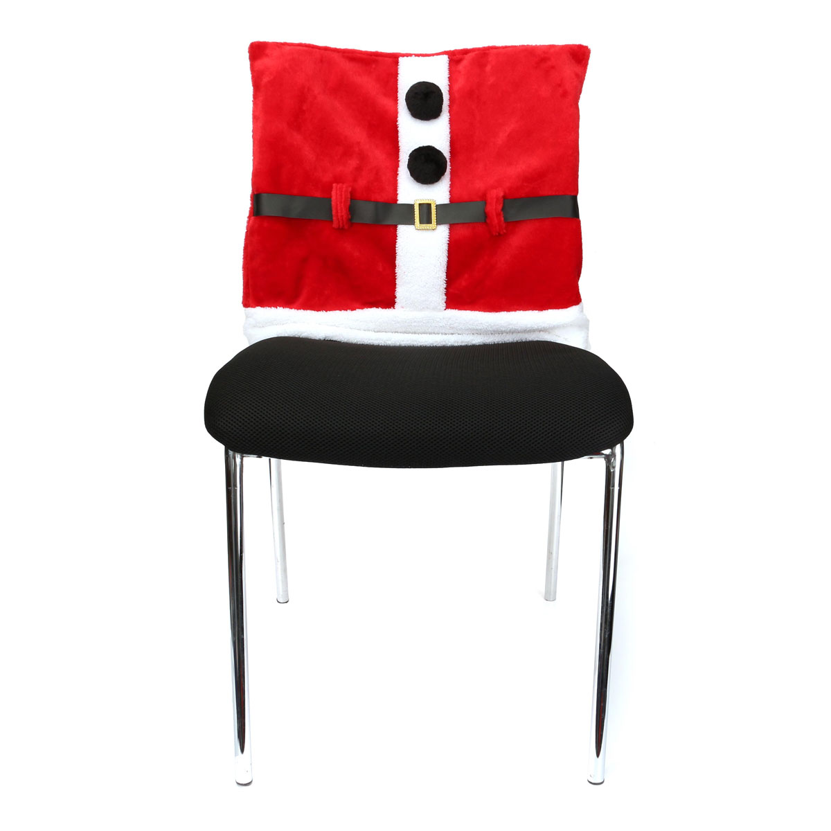 Santa Clause Clothes Suit Chair Back Cover Christmas