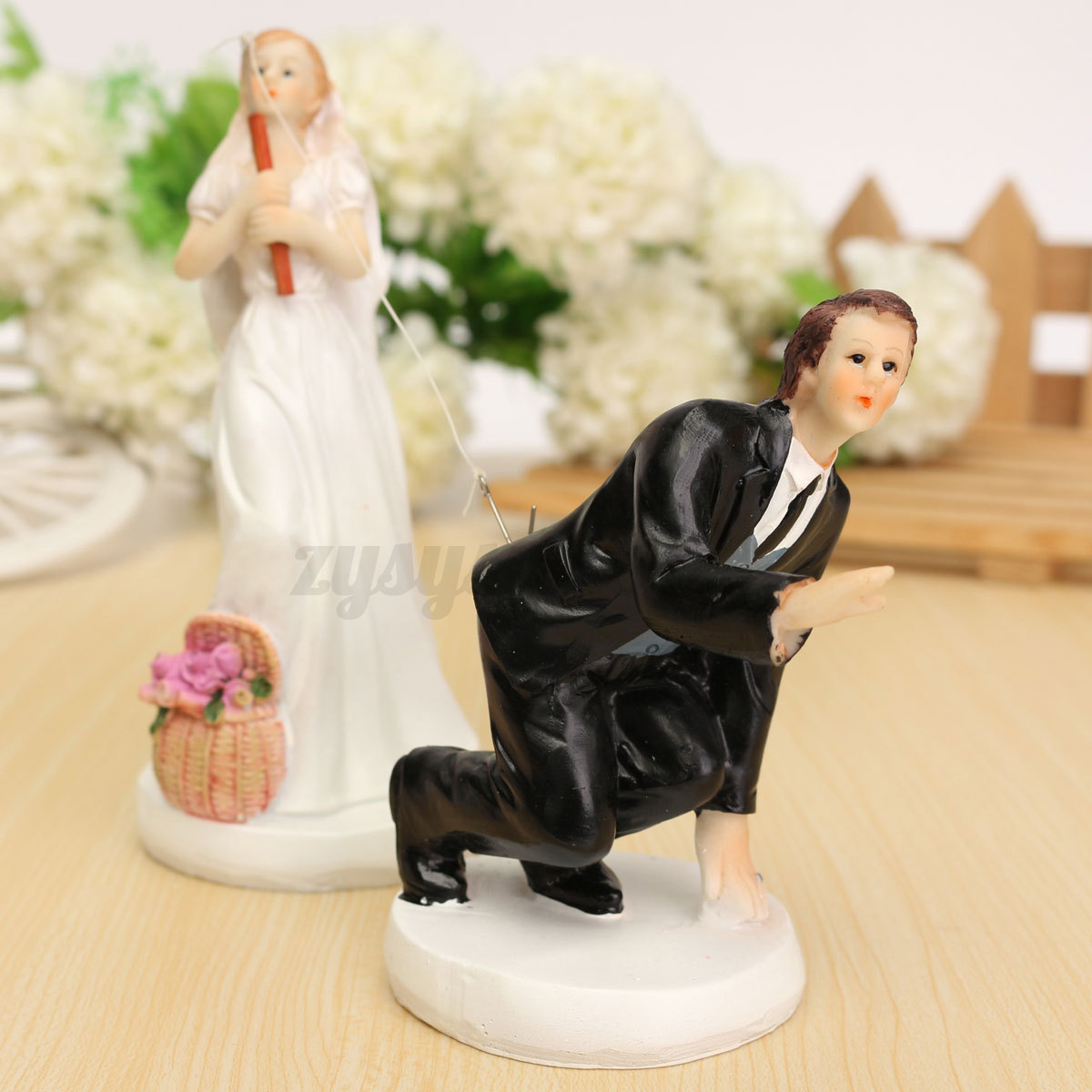 Romantic Wedding Cake Toppers Figure Bride and Groom ...